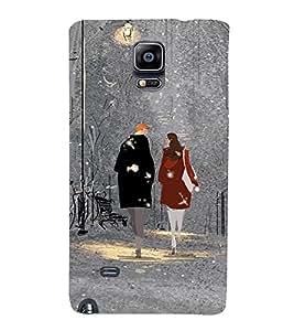 EPICCASE Let's go for Walk Mobile Back Case Cover For Samsung Galaxy Note Edge (Designer Case)