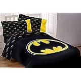Batman Emblem 4 Piece Reversible Super Soft Luxury Twin Size Comforter Set