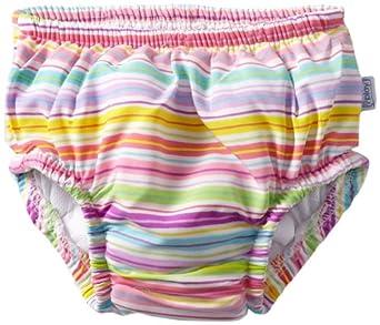 0172a64b9e i play. Baby-girls Infant Ultimate Ruffle Swim Diaper, Multi Stripe ...