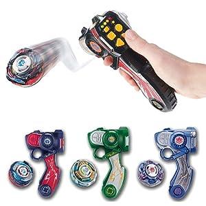 Hasbro Beyblade XTS Radio control Ray Striker - Lanzador radio control para peonzas Beyblade, color verde