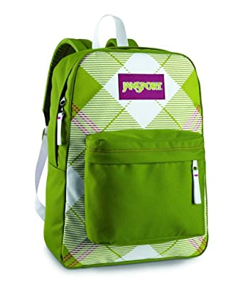 JanSport Classic Super G Series - Argyle Backpack, Citronella Green