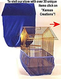 Sheer Guard Bird Cage Skirt and Cover Set - Size Large (Royal)