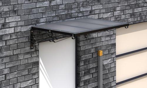 Vordach Haustürdach 120x80 cm Pultvordach Haustür Dach Bogen Überdachung Tür