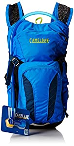 CamelBak Kid's Mini M.U.L.E. Hydration Pack, Electric Blue/Poseidon