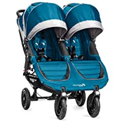 Baby Jogger City Mini GT Double Stroller, Teal Gray by BaJogger