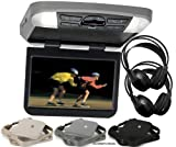 Audiovox AVXMTG10UA 10 Overhead Monitor W/ Built-In DVD Player USB/SD Input & Remote W/ 3 Colors Interchangeable Trim Rings + 2 Wireless Headphones
