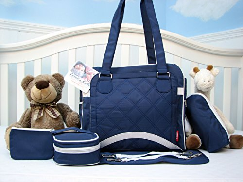 Soho New Yorker Pack & Go 6 In 1 Deluxe Tote Royal Navy *Limited Time Offer !* front-880834