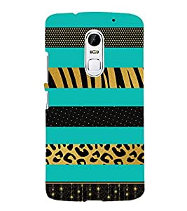 Green Graphics Lines 3D Hard Polycarbonate Designer Back Case Cover for Lenovo Vibe X3