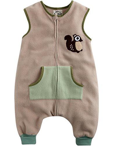Vaenait Baby Toddler Kids Girls Boys Micro Fleece Blanket Sleeper Squirrel M