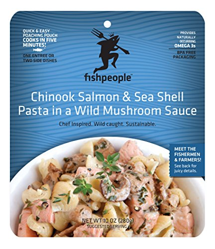 Fishpeople Chinook Salmon And Sea Shell Pasta In Wild Mushroom Sauce, 10 Ounce