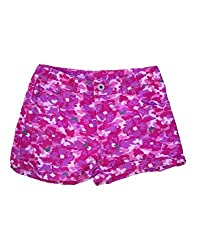 Snoby Girls Pink Shorts-military print, adujstable waist(SBY807)