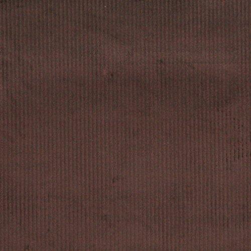 E382 Dark Brown Corduroy Striped Velvet Upholstery Fabric By The Yard (Brown Corduroy Upholstery Fabric compare prices)