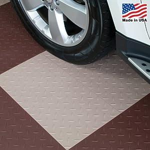 ModuTile Garage Flooring Interlocking Tiles Diamond Top Beige 27