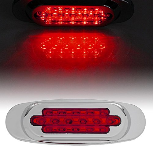 Partsam Surface Mount For Peterbilt 16 Red LED Diode Marker Clearance Lamp Light Sealed (Rims For Gmc Sierra 1500 compare prices)