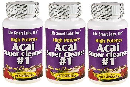 ACAI SUPER CLEANSE #1 TM HIGHLY POTENT 180 capsules ANTIOXIDANT, Detox, Colon Cleanse, Weight Loss