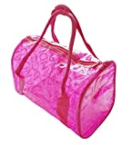 ビニール カラフル 透明 バッグ 【 防水 】 ビーチやプール 水着入れ ピクニック アウトドアに (ピンク)