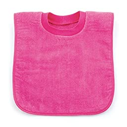 Bumkins Absorbent Cotton Pullover Bib, Pink
