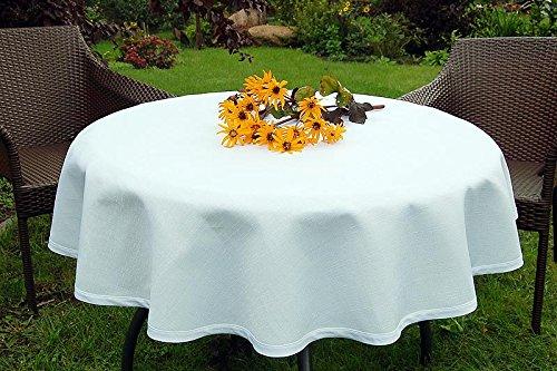ABWASCHBARE-Gartentischdecke-rund-in-vielen-verschiedenen-Gren-Farben-acrylbeschichtet-in-DesignsRustikal-wei-Durchmesser-130-cm