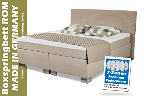 Boxspringbett-ROM-II-Manufaktur-Design-Beige-160x200-cm-Hrtegtrad-H2-und-H3-frei-whlbar-Made-in-Germany