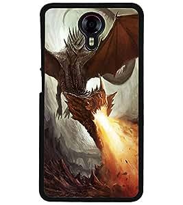 ColourCraft Fire Breathing Dragon Design Back Case Cover for MICROMAX CANVAS XPRESS 2 E313