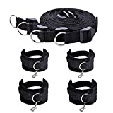LYe SM Sex Under Bed Bondage Restraint Kit with Hand Cuffs and Ankle Cuff Bondage Collection For Male Female Couple