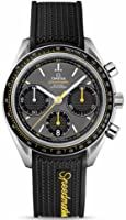 Omega Speedmaster Racing Grey Dial Black Rubber Mens Watch 32632405006001 from Omega
