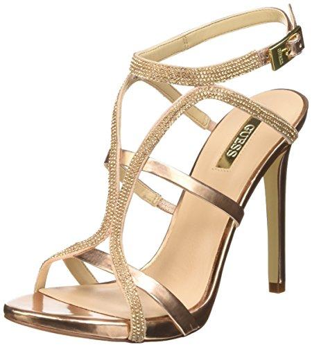 Guess Adalee3 Sue03 Sandali con cinturino alla caviglia, Donna, Rosa (Pink), 40