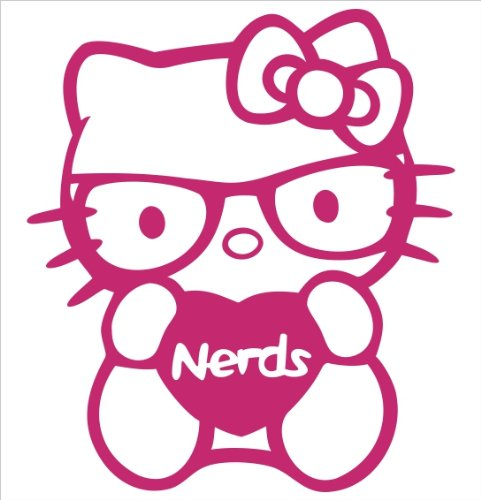 Hello Kitty I Love Nerds Coloring Pages : Free hello kitty with glasses coloring pages