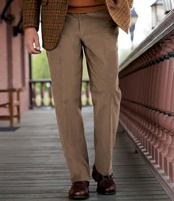 Cotton Corduroy Plain Front Dress Trouser (NEW CHARCOAL GREY, 48 REGULAR)