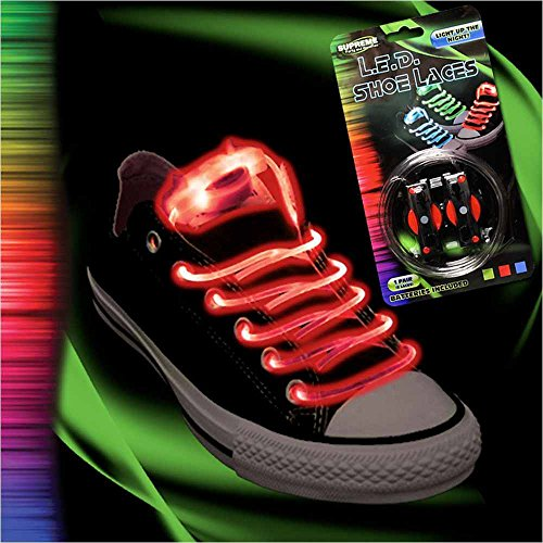 Red Light-Up Led Shoe Laces - One Size