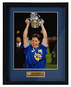 Tony Cottee hand signed Leicester City Worthington Cup framed photograph(PP237)