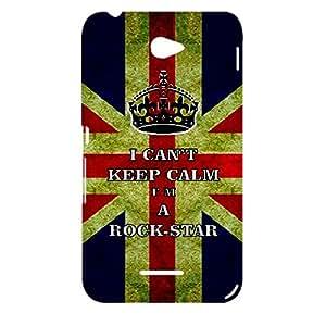 Skin4gadgets I CAN'T KEEP CALM I'm A ROCK-STAR - Colour - UK Flag Phone Designer CASE for SONY XPERIA E4