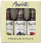 Amoretti Premium Berry Syrups 50ml 3...