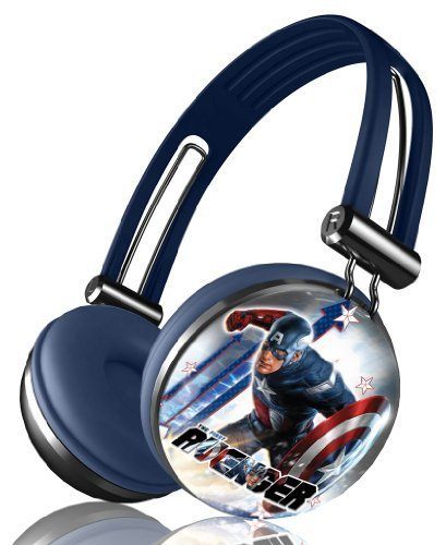 Marvel'S The Avengers Movie Series Aviator Stereo Over Ear Headphones - Captain America