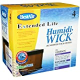 BestAir ES12 Kenmore 14911 / Emerson HDC-12 Replacement Wick Filter - 4 filters