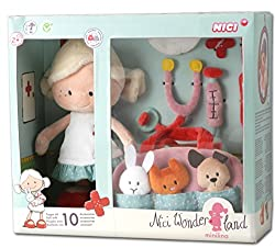 Nici Wonderland Animal Medical Minilara Plush By Nici