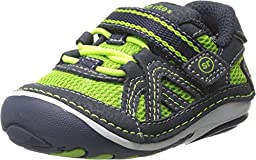 Stride Rite Baby Boy\'s SRT SM Damien (Infant/Toddler) Green/Navy Sneaker 3 Infant XW