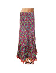 Sttoffa Womens Cotton Skirts -Multi-Coloured -Free Size - B00MYVF7P6