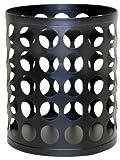 Jokari Wine Cork Pillar Candle Holder, 5 by 5.75-Inch, Matte Black