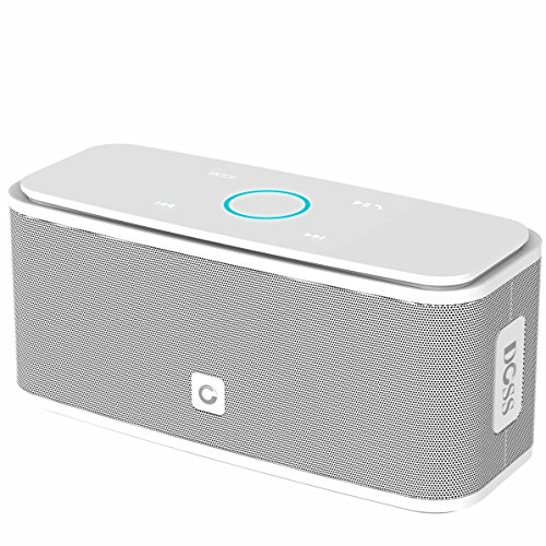Bluetooth speakers DOSS Wireless Portable Bluetooth V4.0 Speaker with High-Definition Sound Quality & Superior bass,Sensitive touch,12 Hours playtime,Handsfree[White]