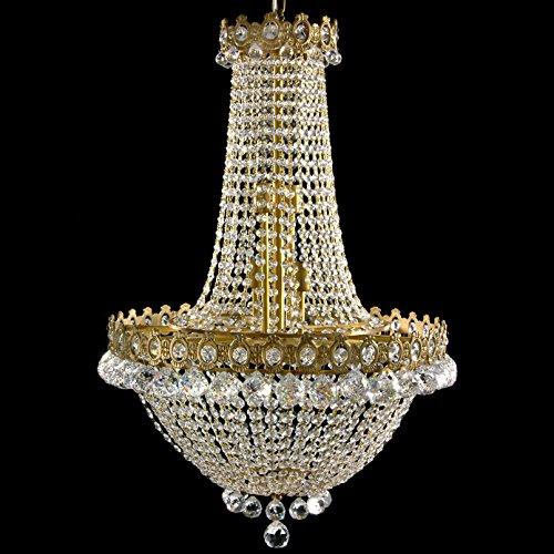 Oriental Furniture Crystal Drops Chandelier