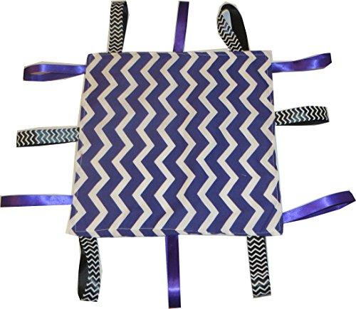 Jojo's Boutique Purple and White Chevron Tab Blanket