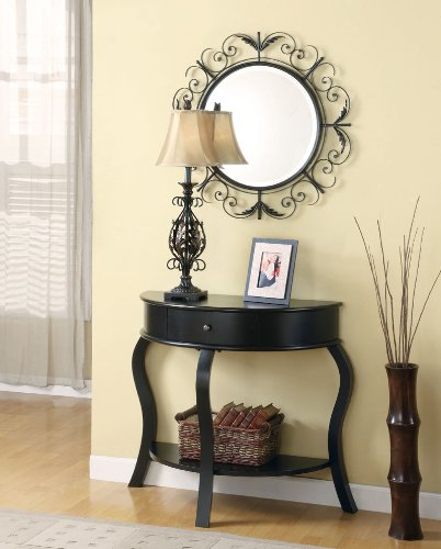 Cheap Black Wonderful Console Table & Mirror & Lamp (B003XRBM7W)