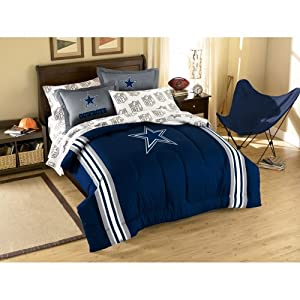 NFL Dallas Cowboys Full Bed in a Bag with Applique Comforter by Northwest