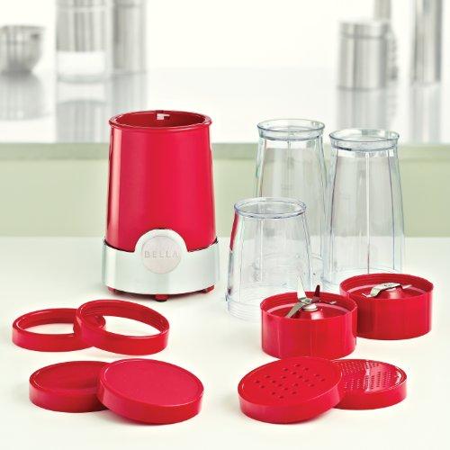 Bella 13756 12 Piece Rocket Blender Red And Chrome Home Garden Kitchen Dining Kitchen Appliance