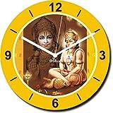 2 O Clock Bhakt Hanuman Printed Analog Wall Clock