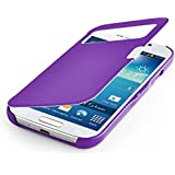 betterfon� S-View Flipcover Samsung Galaxy S4 mini I9195 Lila Schutzh�lle Case Cover Handytasche Flip Cover H�lle Tasche + gratis Displayschutzfolie