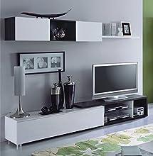 Comprar Habitdesign 016664G - Mueble comedor, color Gris Ceniza y Blanco Brillo, dimensiones: 37 x 240 x 41cm
