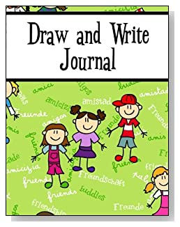 Draw and Write Journal For Children - Friendship in many languages is the goal for the children on the cover of this draw and write journal for younger kids.