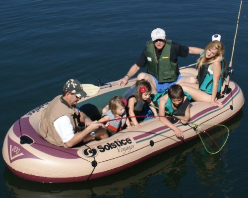 Solstice Voyager 6 Person Inflatable Fishing Boat